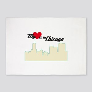My Love Is In Chicago 5'x7'Area Rug