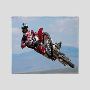 Motocross Stunt Throw Blanket