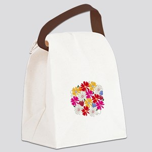 Flower Patch Canvas Lunch Bag