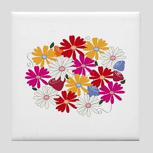 Flower Patch Tile Coaster
