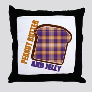 Plaid Peanut butter and jelly Throw Pillow