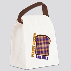 Plaid Peanut butter and jelly Canvas Lunch Bag