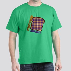 Plaid Peanut butter and jelly Dark T-Shirt