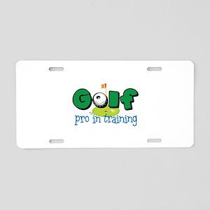 Pro In Training Aluminum License Plate