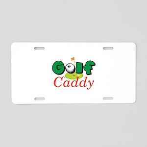 Golf Caddy Aluminum License Plate