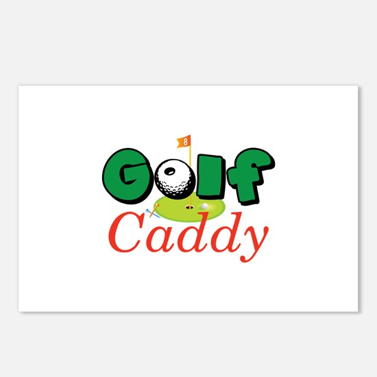 Golf Caddy Postcards (Package of 8)
