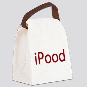 Red iPood Humor Canvas Lunch Bag