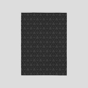 Gray Fleur-De-Lis Pattern 5'x7'area Rug
