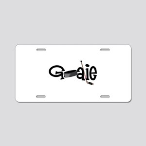 Goalie Aluminum License Plate