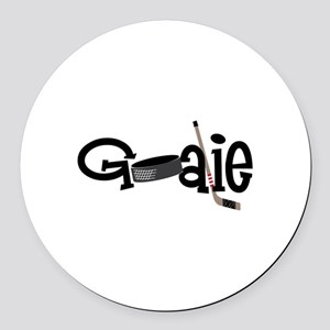 Goalie Round Car Magnet