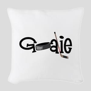 Goalie Woven Throw Pillow