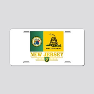 New Jersey Gadsden Flag Aluminum License Plate