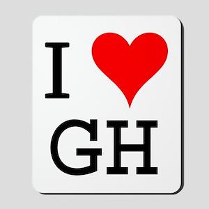I Love GH Mousepad