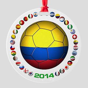 Colombia futbol soccer Ornament
