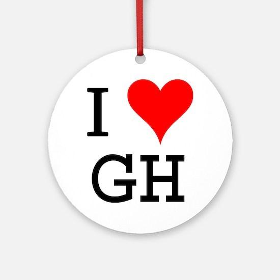 I Love GH Ornament (Round)