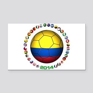 Colombia futbol soccer Rectangle Car Magnet