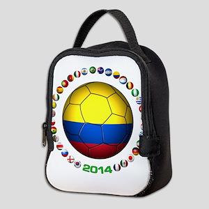 Colombia futbol soccer Neoprene Lunch Bag