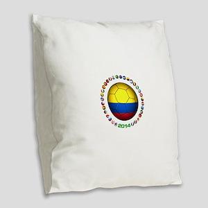 Colombia futbol soccer Burlap Throw Pillow
