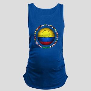 Colombia futbol soccer Maternity Tank Top