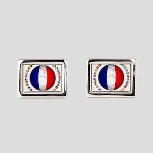 France Football Rectangular Cufflinks