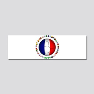 France Football Car Magnet 10 x 3