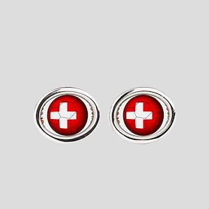 Switzerland soccer Oval Cufflinks