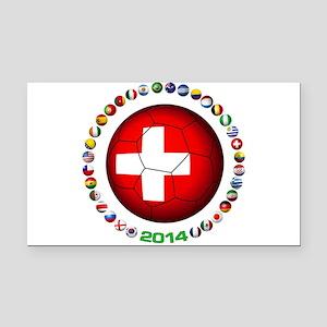 Switzerland soccer Rectangle Car Magnet