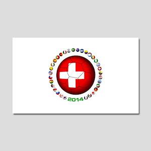 Switzerland soccer Car Magnet 20 x 12