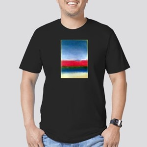 ROTHKO RED WHITE BLUE Men's Fitted T-Shirt (dark)