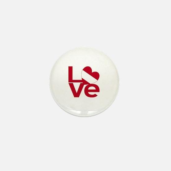 Red Austrian LOVE Mini Button