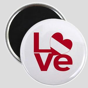 Red Austrian LOVE Magnet