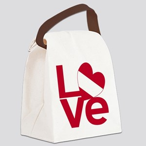 Red Austrian LOVE Canvas Lunch Bag