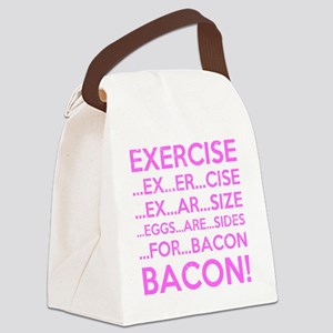 Exercise Eggs Are Sides Bacon Canvas Lunch Bag
