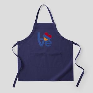 Blue Armenia LOVE Apron (dark)