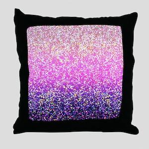 Glitter 6 Throw Pillow