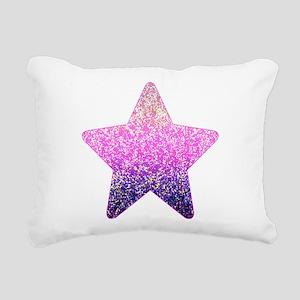 Glitter 6 Rectangular Canvas Pillow