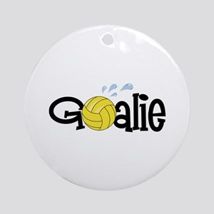 Water Polo Goalie Ornament (Round)