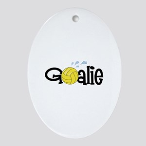 Water Polo Goalie Ornament (Oval)