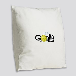 Water Polo Goalie Burlap Throw Pillow