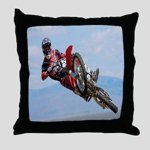 Motocross Stunt Throw Pillow