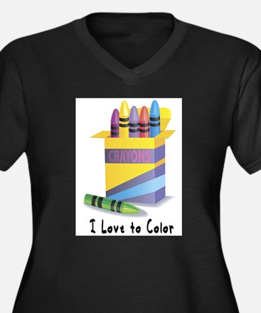 Jwish Kids Love To Color Women's Plus Size V-Neck