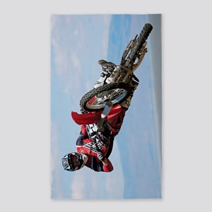 Motocross Stunt 3'x5' Area Rug