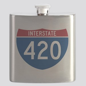 Interstate 420 Road Sign Flask
