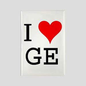 I Love GE Rectangle Magnet