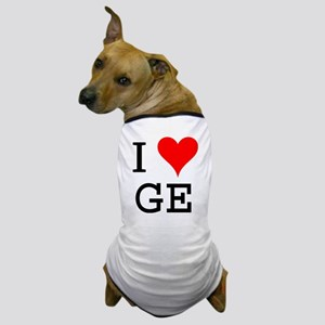 I Love GE Dog T-Shirt