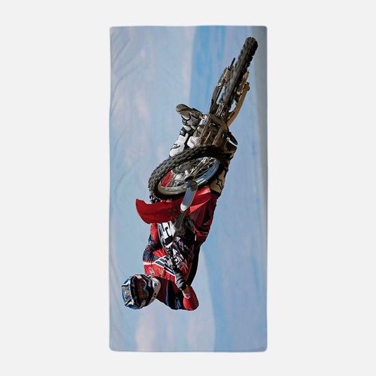 Motocross Stunt Beach Towel