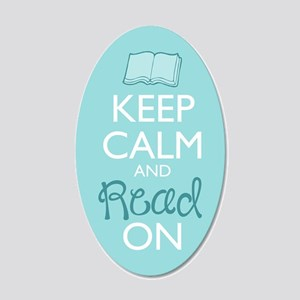 Keep Calm And Read On 20x12 Oval Wall Decal