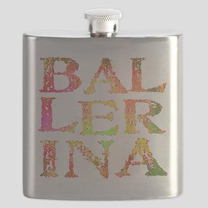 BALLERINA pink camo font Flask