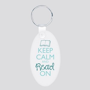 Keep Calm and Read On Keychains