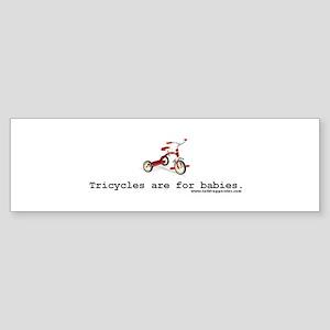 tricycle_sticker2 Bumper Sticker